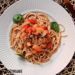 Warzywne spaghetti z makaronem, bez mięsa