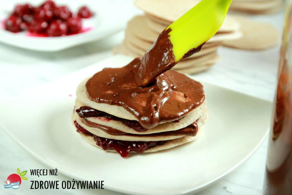 Torciki gryczane z czekoladą i wiśniami
