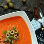 Zupa krem paprykowa z oliwkami