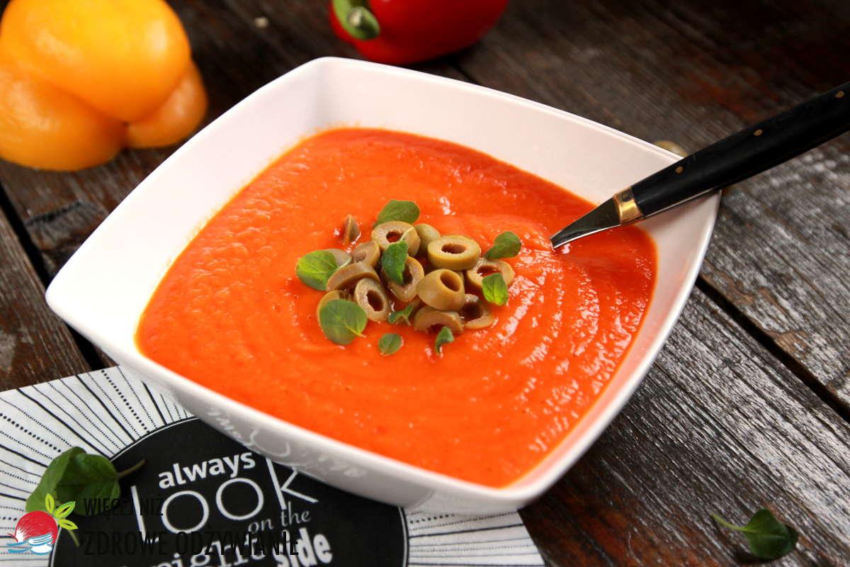 Zupa krem paprykowa