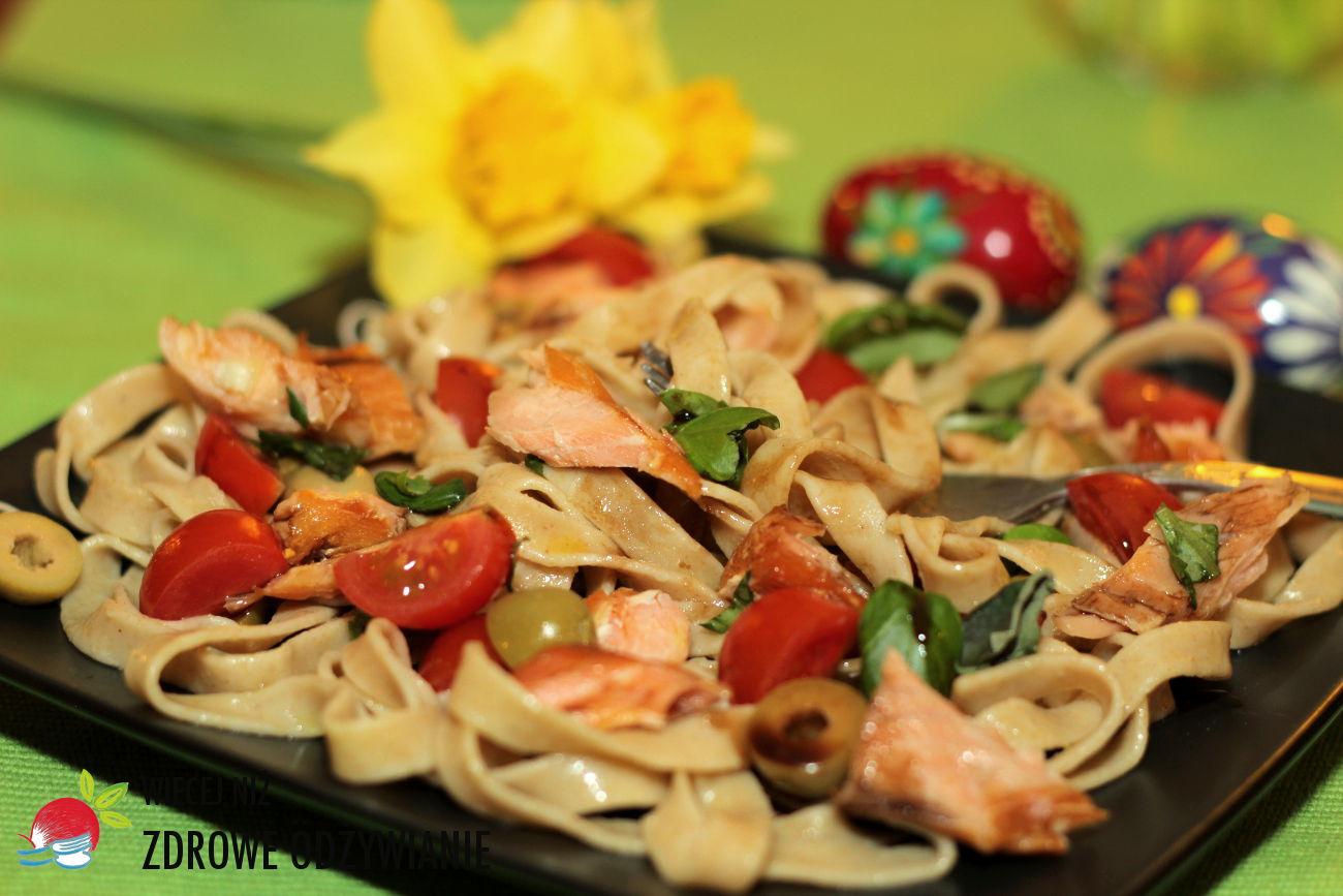 Więcej Niż Zdrowe Odżywianie Sałatka Z łososiem Zdrowe