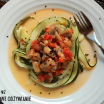 Warzywne spaghetti bezglutenowe i bezmięsne