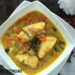 Zupa rybna z zielonym groszkiem