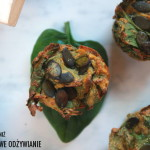 Wytrawne muffiny ze szpinakiem i marchewką