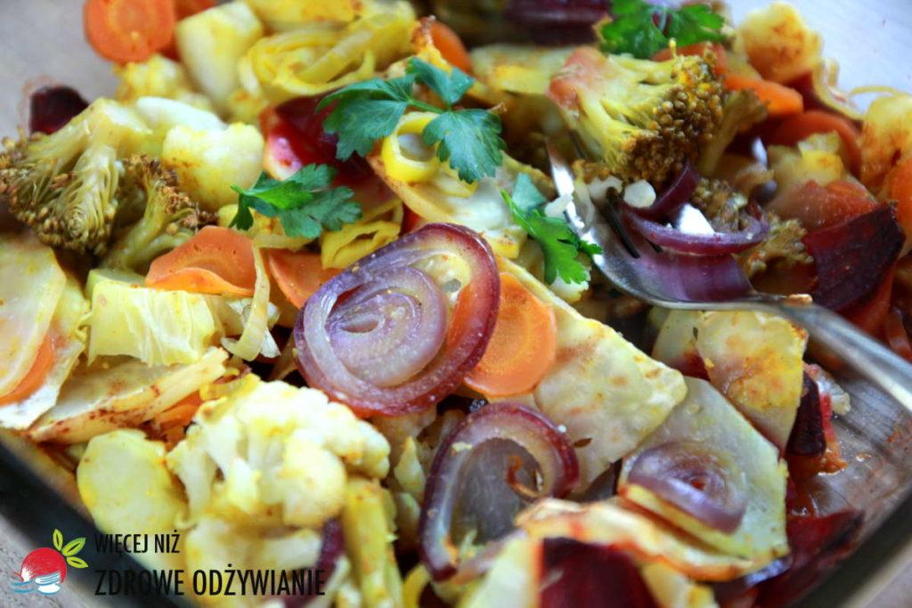 Pieczone warzywa krzyżowe