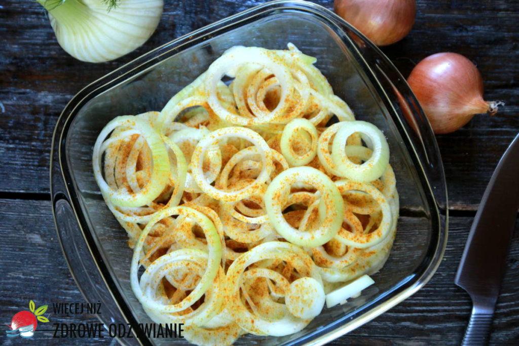 Pieczony fenkuł z cebulą bez tłuszczu