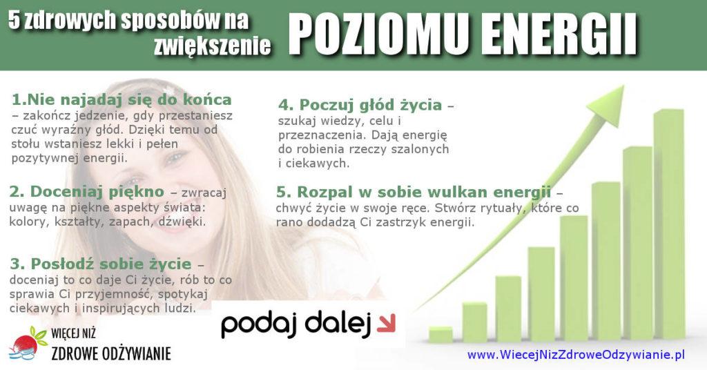 zwiększenie poziomu energii
