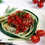 Obłędne pomidorowo-cukiniowe spaghetti