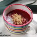Zupa krem z buraków czerwonych z komosą ryżową