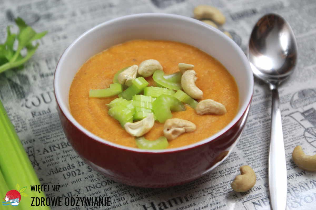 Zupa krem z marchwi z komosą ryżową