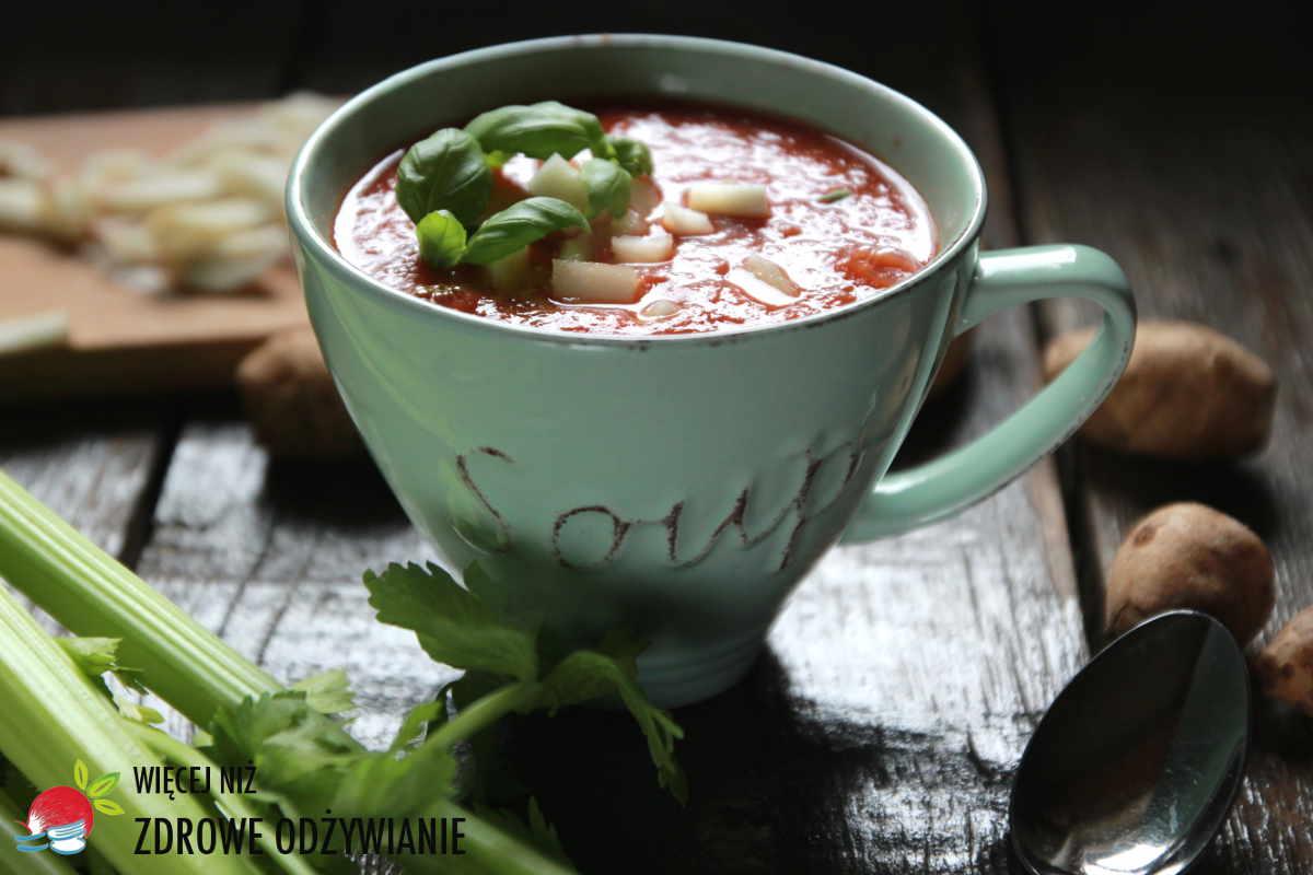 Zupa pomidorowa z topinamburem