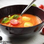 Postna zupa krem z dynią i pomidorami