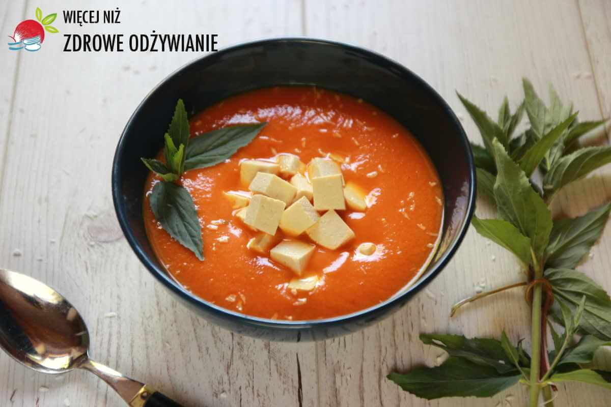 Zupa krem z cukinii i papryki z batatem