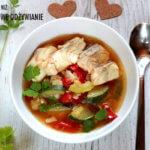 Zupa warzywna z dorszem