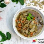 Zupa z pieczarek i soczewicy a'la flaczki