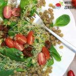 Sałatka z soczewicą i suszonymi pomidorami